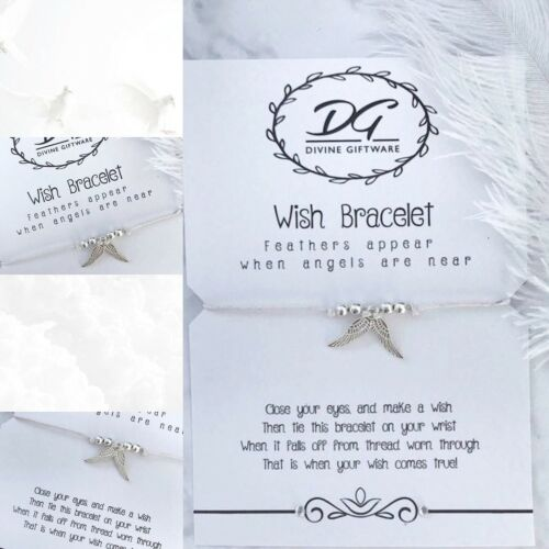 Wish Bracelet Bereavement//Sympathy  Angels//Wings  Jewellery Gift  J04