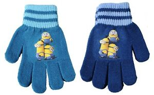 Disney-Minions-Kinderhandschuhe-Jungen-Winter-Handschuhe-mit-PVC-Aufdruck-NEU
