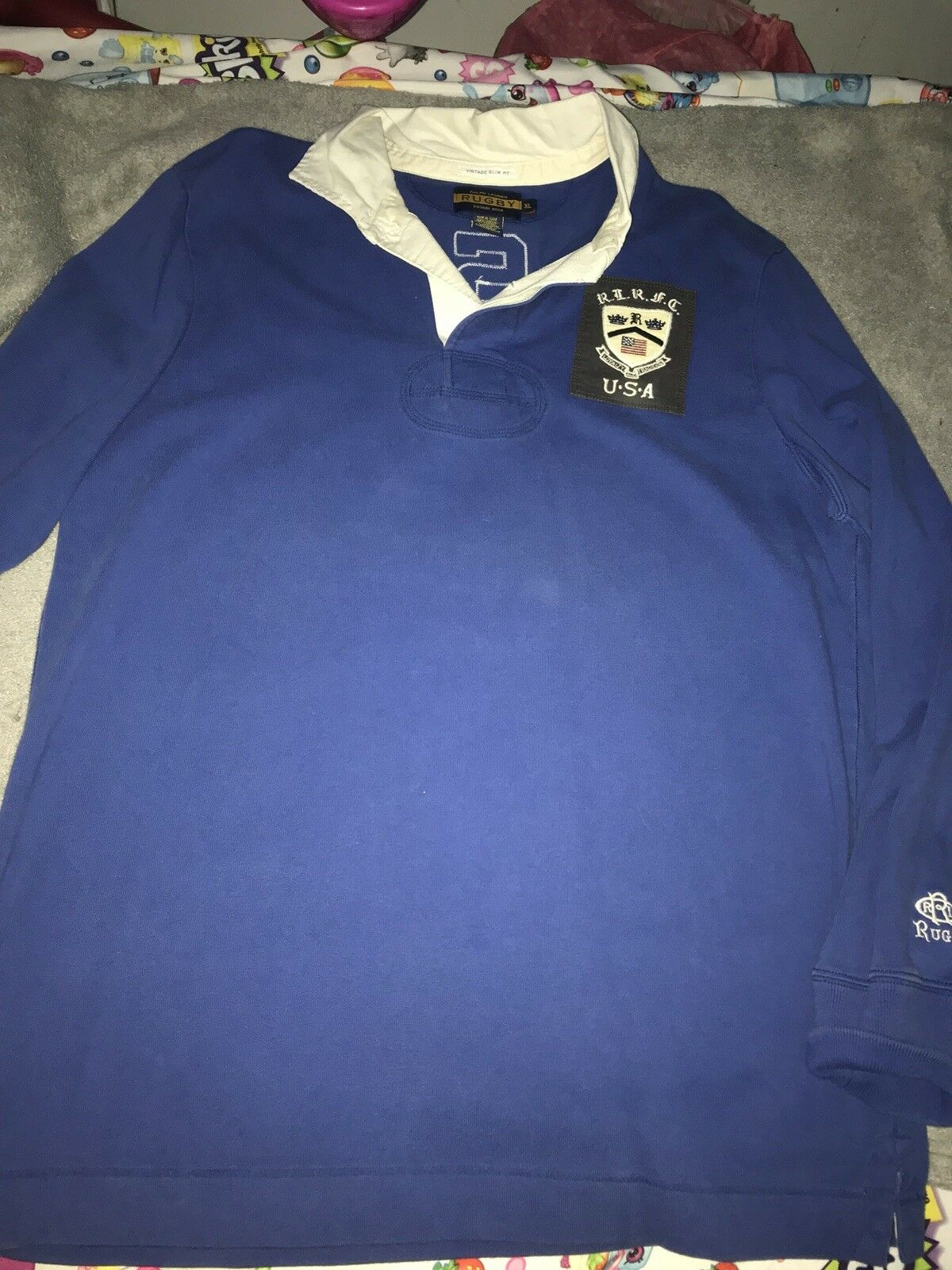 Vintage Ralph Lauren Polo Rugby Long Sleeve Size XL Slim Fit