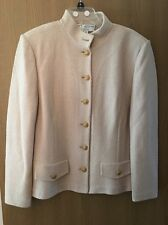 Beautiful Cream-Colored St John Knit Suit - Size 14 - Excellent Condition!