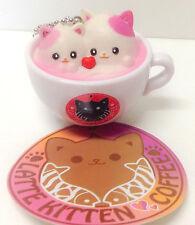 Latte Kitten Coffee Kawaii Mimi Cat Keychain Mascot Figure Amuse Japan