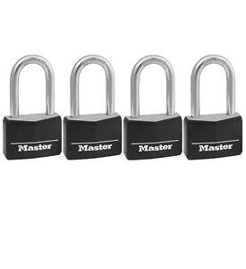 "Master Lock 1-9//16/"" Wide Same Keyed Padlock Combo Set 2 Pack 3T"