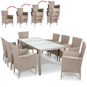 Poly Rattan Sitzgruppe Sitzgarnitur Garten Lounge ...