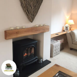 Oak Beam Fireplace Mantle Rustic Timber Shelf