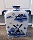 Chinese Beautiful Blue and white Porcelain flat Vase (S)