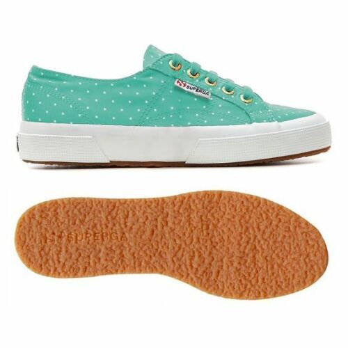 Aquamarine Dots White S009HT0 C31 Superga 2750 DOTSSATINW Sneakers Women/'s