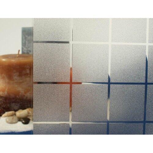 """Givré carrés statique s/'accrochent Film De Fenêtre environ 1.98 m Large 36/"""" X 6.5 Ft"""