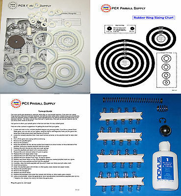 1967 Gottlieb Sing Along Melody pinball rubber ring kit