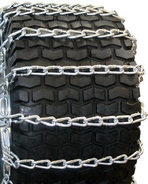 The ROP Shop New Pair 2 Link TIRE Chains 20x8.00x10 for Garden Tractors//Riders//Snowblower