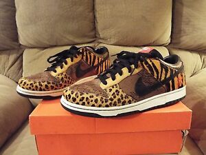 new concept 684be 4a18f Image is loading NIKE-DUNK-LOW-PREMIUM-Animal-Beast-Pack-black-