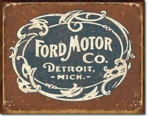 Ford-Motors-Metal-Tin-Ad-Sign-Picture-Auto-Shop-Mechanic-Garage-Gas-Decor-Gift