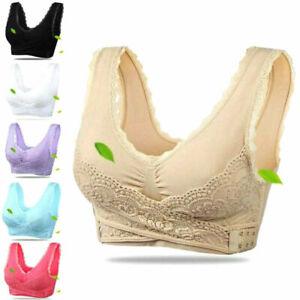 Frauen-Nahtlos-Push-Up-Cross-Brace-Fitness-Yoga-drahtlose-Gepolsterte