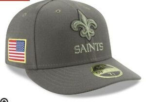 5610016ed713a NEW ORLEANS SAINTS NFL NEW ERA 59FIFTY SALUTE TO SERVICE SIDELINE ...