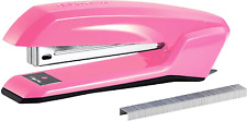 Pink Office Supplies Stapler Desk Accessories With Integrated Remover Staple New