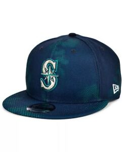 Seattle Mariners Hat New Era 9Fifty Snapback 950 MLB Baseball Cap Blue Teal
