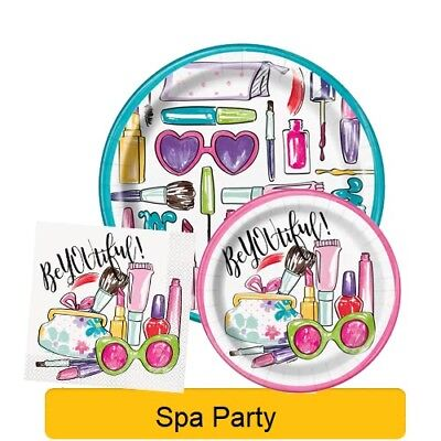 SPA PARTY Birthday PARTY Range NEW Tableware Balloons /& Decorations Supplies 1C