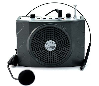 25W Portable Waistband Voice Booster PA Amplifier Loudspeaker FM MP3 USB