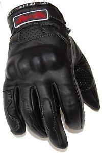 Nouvelle-courte-en-cuir-moto-gants-Biker-s-3xl-Moto-Gants-Noir