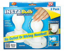 Insta Bulb Instabulb Wireless Battery Operated Light Seen on TV Cordless 2 Pack