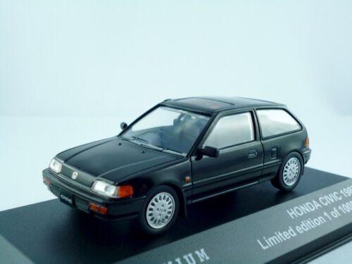 Honda Civic 1987-1991 negro//triple 9 premium 1:43