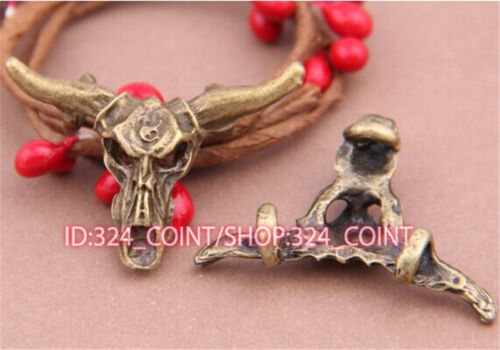P527 5pcs Antique Bronze tauren Pendant Bead Charms Accessories wholesale