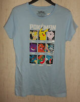 Womens Pokemon Light Blue Novelty T-shirt Size L