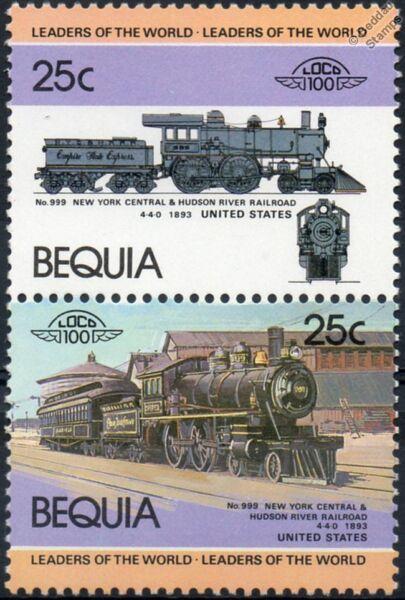 1893 Nyc N ° 999 New York Central & Hudson River Rr Train Timbres / Loco 100 Ni Trop Dur Ni Trop Mou