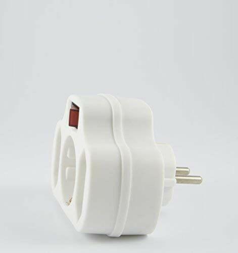 Multistecker Adapterstecker Schutzkontakt Verteiler Mehrfachstecker 3-fach 4-...