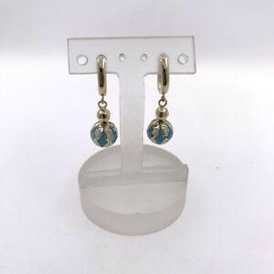 Ohrringe-aus-14-kt-Gold-mit-Emaille