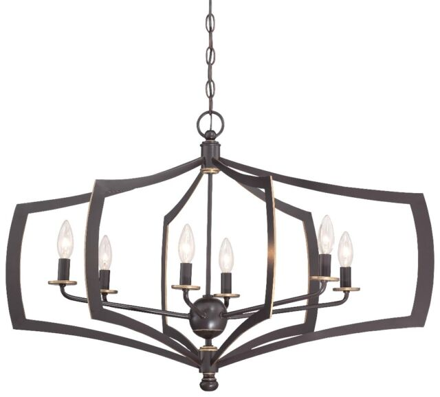 Minka Lavery 4376 579 Middletown 6 Light Chandelier Downton Bronze With Gold