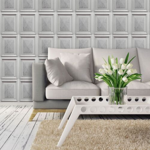 Effet Marbre panneau en bois synthétique Luxe Papier Peint Coller le mur vinyle Erismann