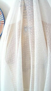 "WHITE SPARKLE ORGANZA FABRIC 60/"" WIDE 20 YARD"