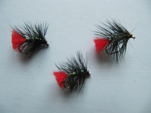 Details about  /3 x BLACK ZULU PEARLY WET TROUT FLIES Sizes 8,10,12,14,16 Available