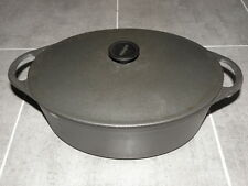 COUSANCES 12 oval now Le Creuset ROUND BLACK CAST IRON ROAST DUTCH OVEN french