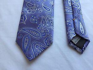 NEW Canali Lavender Purple Paisley Silk Neck Tie ( Like Quindici ) 3'' W 58'' L