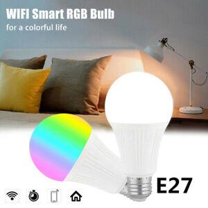 E27 WiFi Smart Light Bulbs RGB LED Light Lamp Compatible with Alexa Google Home