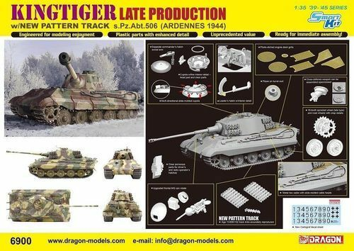 DRAGON PZ.ABT.506 KING TIGER LATE PRODUCTION 1 35 6900