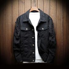Adam Levine Denim 4 Pocket Trucker Jean Jacket Mens Black Factory