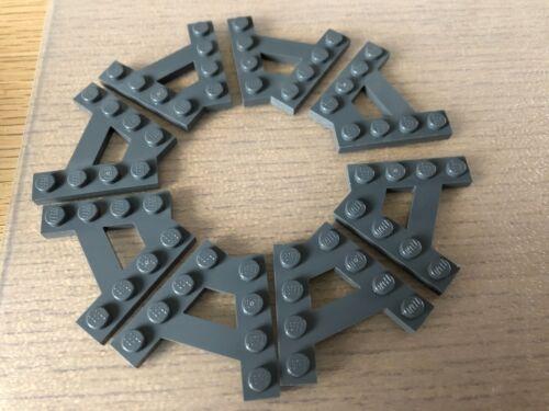 45 degrés-Gris foncé Lego ® 8x Coin keilplatten-a-Forme 15706-Gray-Cercle