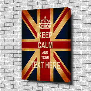 KEEP-CALM-and-YOUR-TEXT-Top-Quality-Box-Canvas-20-034-x30-034