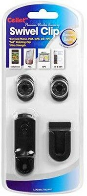 NEW UNIVERSAL SWIVEL BELT CLIP SET WITH CAR MOUNT FOR CELL PHONE iPOD etc