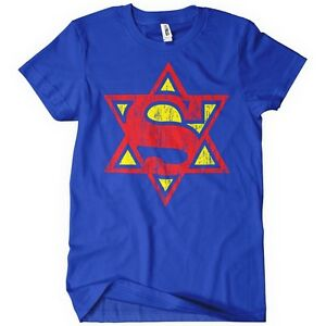 SUPER-JEW-TSHIRT-Funny-Hebrew-Jewish-TEE-Cool-Israel-Man-People-Trust-Me-Im