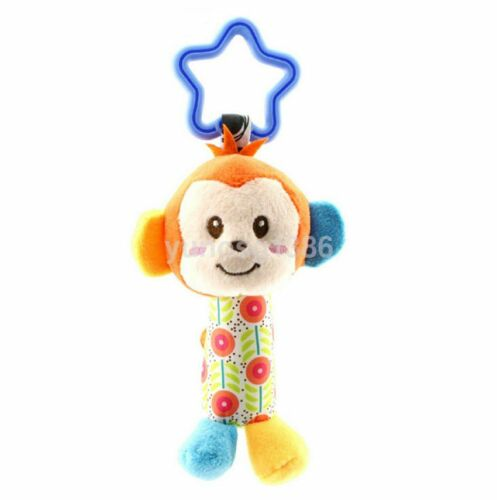 Baby Infant Rattles Plush Animal Stroller Music Hanging Bell Toy Doll Soft Bed Y