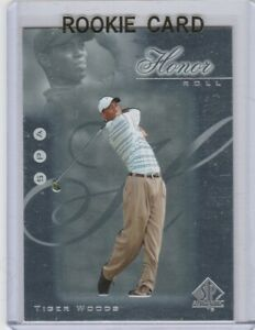 Details About Tiger Woods Sp Authentic Honor Roll Rookie Card Insert Golf Hr1 Upper Deck Rc