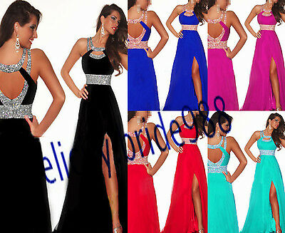 STOCK New Long Chiffon Bridesmaid Formal Ball Party Cocktail Evening Prom Dress