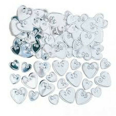 Silver Loving Hearts Table Confetti - Engagement / Wedding etc - New & Sealed