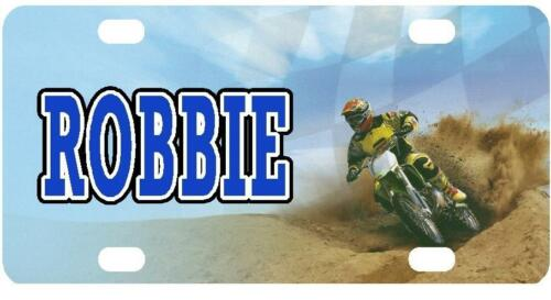 MOTORCYCLE OFF-ROAD MINI LICENSE PLATE Racing Any Name Personalized Kids Bicycle