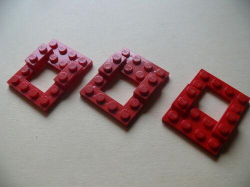 Lego 3 chassis de voitures rouges set 6688 6594 6670 6628 3 red car base