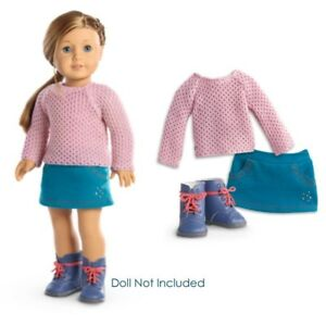 """NEW American Girl Truly Me Sparkle Sweater Outfit for 18"""" Dolls Clothes Boots 887961132397"""