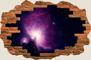 3D-Hole-in-Wall-Space-Universe-Stars-In-Galaxy-View-Wall-Sticker-Decal-Mural-677